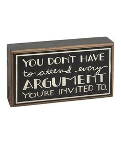 'Argument' Box Sign | Daily deals for moms, babies and kids