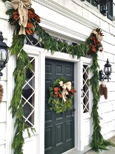 Christmas entrance decor... will be nice to finally have an easy entrance to spruce up