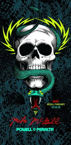 An American skateboard company founded by George Powell and Stacy Peralta in Skateboard Logo, Skateboard Companies, Skateboard Design, Old School Skateboards, Vintage Skateboards, Vintage Tattoo Design, Longboard Design, Snake Art, Grunge