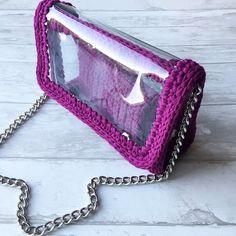 Трикотажная пряжа и полиэфирный шнур в Мурманске Crochet Bag Tutorials, Crochet Purse Patterns, Crochet Clutch, Crochet Basket Pattern, Crochet Handbags, Crochet Purses, Crochet Hooks, Crochet Projects, Crotchet Bags