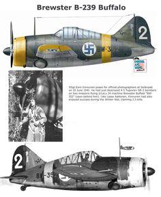 B-239 Buffalo Aircraft Propeller, Ww2 Aircraft, Fighter Aircraft, Military Aircraft, Fighter Pilot, Fighter Jets, Finland Air, Brewster Buffalo, Finnish Air Force