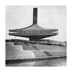 """""""Several perspectives, both current and historic, of the May Memorial Sports Center in Belgrade, The date this complex is dedicated for was the birthday of the former Yugoslav President Josip Tito. Main photo by Dumitru Rusu. Concrete Architecture, Gothic Architecture, Futuristic Architecture, Architecture Photo, Conceptual Architecture, Unusual Buildings, Modern Buildings, Bauhaus, Colani"""