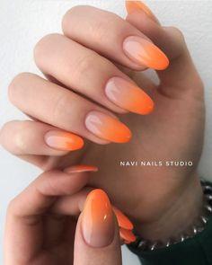 Orange Nail Art, Nails Yellow, Pink Nails, Best Acrylic Nails, Summer Acrylic Nails, Trendy Nails, Cute Nails, Nail Manicure, Gel Nails