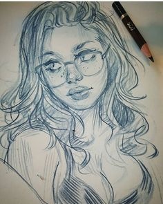 25 min this afternoon. down to the nub . keep on keepin on! Girl Drawing Sketches, Pencil Art Drawings, Realistic Drawings, Cute Drawings, Art Sketches, Estilo Anime, Dope Art, Art Challenge, Drawing People