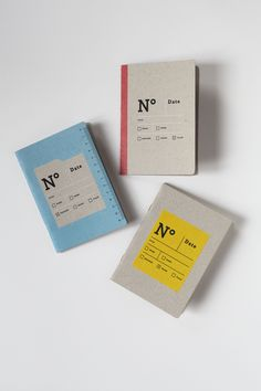 THE BUREAUCRATS - 3 pocket notebooks, one ruled, one plain and one squared to note and draw, at the office or up on a chestnut tree. By Papier Tigre