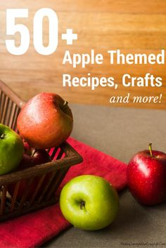 Discover over 50 Apple Themed Recipes Crafts and More in this fabulous round-up. #SoFabSeasons #ApplePicking #FunFall #Foodie