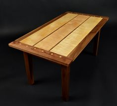 Curly maple and black walnut coffee table