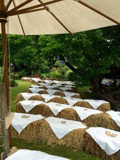 Ceremony Seating, Farm Wedding, Wedding Ideas, Marry Me, Patio, Table Decorations, Outdoor Decor, Bob, Home Decor