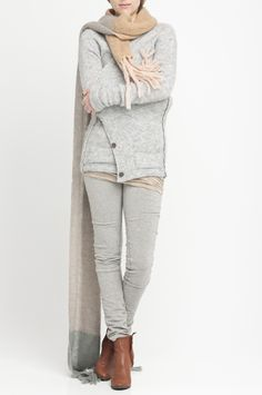 cosy loungewear: HUMANIOID - CLAS › CARDIGANS › colour silver