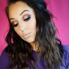 Violet Voss Glitter Valentine's Day Smokey eye makeup look by @ericagamby