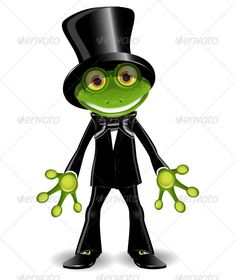 Frog in a Top Hat  #GraphicRiver         illustration frog in a black suit and top hat   vector EPS 10, AI 10 file, JPEG 4217×6970   4 layers   fully editable     Created: 19February13 GraphicsFilesIncluded: JPGImage #VectorEPS #AIIllustrator Layered: Yes MinimumAdobeCSVersion: CS Tags: alive #amphibious #animal #black #bowtie #business #businessman #curiosity #cylinder #eye #fauna #frog #glance #good #green #illustration #jolly #joy #manager #merry #paw #serious #smile #strict #suit #tie…