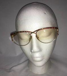 484c6c5513f Vintage Eyeglasses Laura Biagiotti Italian Designer Eyewear Golden Metal  Southwestern Print