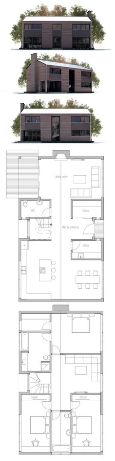 Small Modern House, Floor Plan