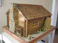 Miniature Log Cabin...someday I'm going to make one of these with found items in nature.
