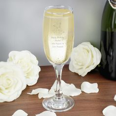 Butterfly themed gift idea for the bridesmaid or Mother of the Bride and Groom - Personalised Champagne Flute - Personalised Butterfly Champagne Flute