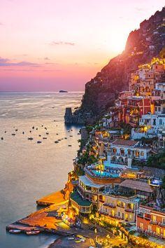 Dusk, Positano, Italy