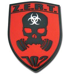 Custom Military Unit PVC Patches: Z.E.R.T.