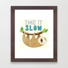 Sloth Framed Art Print