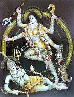 Goddess Kali and Lord Shiva