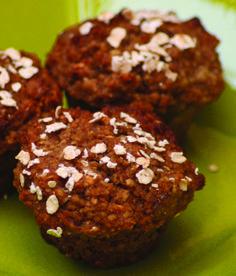 Oat-Bran Applesauce Muffins