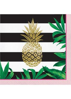 One Package of 16 Golden Pineapple Foil Stamped Lunch Napkins. These lunch napkins measures inches folded and 13 inches unfolded. Features a foil stamped golden pineapple. complete your pineapple wedding Party Napkins, Wedding Napkins, Napkins Set, Beverage Napkins, Gold Pineapple, Pineapple Room, Pineapple Quilt, Costume Halloween, Party