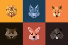 Animals Polygons Logo Design by @Graphicsauthor