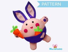 Bunny Sewing ... by Maria Palito | Sewing Pattern - Looking for your next project? You're going to love Bunny Sewing Pattern A1085 by designer Maria Palito. - via @Craftsy