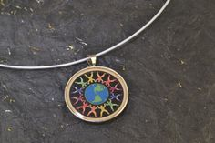 LGBTQ Colours Of The Gay Rainbow Circle Earth Steel by ChezChani