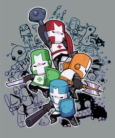 castle crashers by KEISUKEgumby on DeviantArt Character Concept, Concept Art, Character Design, Indie Games, League Of Legends, Castle Party, Castle Crashers, Arte Nerd, Game Development Company