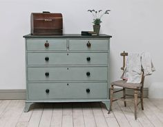 Large Victorian Distressed Chest Of Drawers
