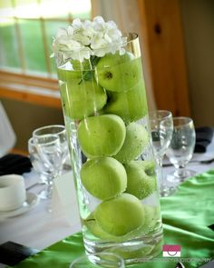 Apple centerpiece- we made them all!                                                                                                                                                      More