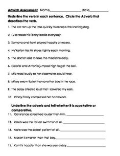 Comparative and Superlative Adverbs Worksheet | Places to Visit ...