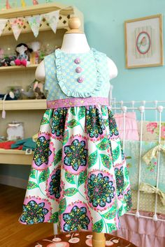 I think this little dress is really cute... Girls Spring Easter Dress  Popsicle Party Dress by LottieDaBaby, $59.00