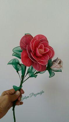 Tülden Çiçek ve gül Çalışmam