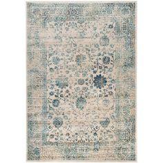 Safavieh Evoke Beige/ Turquoise Rug (8' x 10')