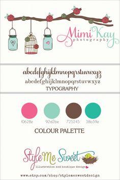 Custom Logo Design Branding Board For Mimi Kay Photography