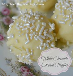 White Chocolate Coconut Truffles Recipe (Gluten Free)...these look Amazing!