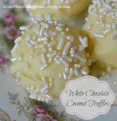 White Chocolate Coconut Truffles Recipe (Gluten Free)...these look Amazing!