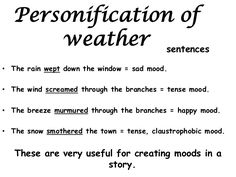 personification poems for kids Writing Images, Curriculum Design, Best Poems, Alliteration, English Language Arts, English Vocabulary, Teaching Resources, Teaching Ideas