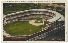 Polo Grounds, aerial view.  Home of the New York Giants.