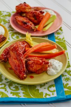 Baked Buffalo Wings with Blue Cheese Dip - Hello HealthyHello Healthy