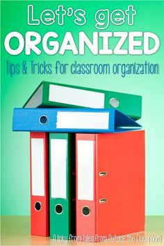 Ideas for organizing your resources. Great ideas for getting things ready for the new school year