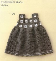 Dresses for girls from 12 to 24 months and free grids!
