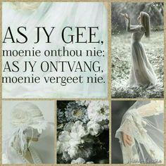 when you receive, you mustn't forget. Some Quotes, Wisdom Quotes, Bible Quotes, Best Quotes, Bible Verses, Qoutes, Scriptures, Afrikaanse Quotes, Beautiful Collage