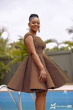 Latest African Fashion Dresses, African Dresses For Women, African Print Fashion, African Attire, Modern African Dresses, Ankara Fashion, Women's Dresses, Casual Dresses, Short Dresses