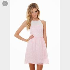 Lilly Pulitzer Kailey Chiffon Halter Dress Size 4 Worn once, in great condition! Beautiful dress Lilly Pulitzer Dresses