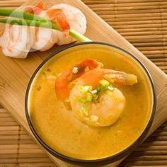 Kremowa zupa krewetkowa z curry @ allrecipes.pl