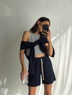 Retro Outfits, Cool Outfits, Summer Outfits, Casual Outfits, Best Street Style, Street Style Outfits, Lounge Outfit, Lounge Wear, Look Fashion