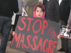 """Stop the Massacre"" (Photo: Eli Bell)"