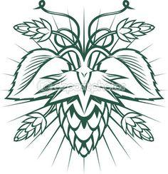 emblema de lúpulo